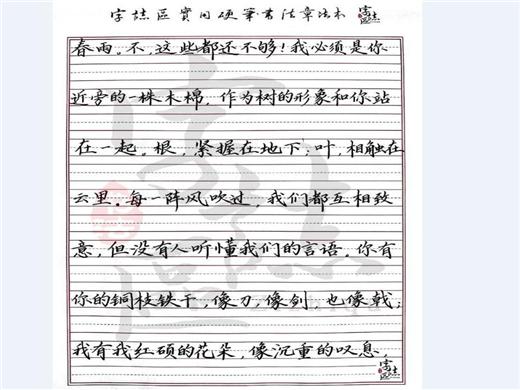 字志区硬笔书法